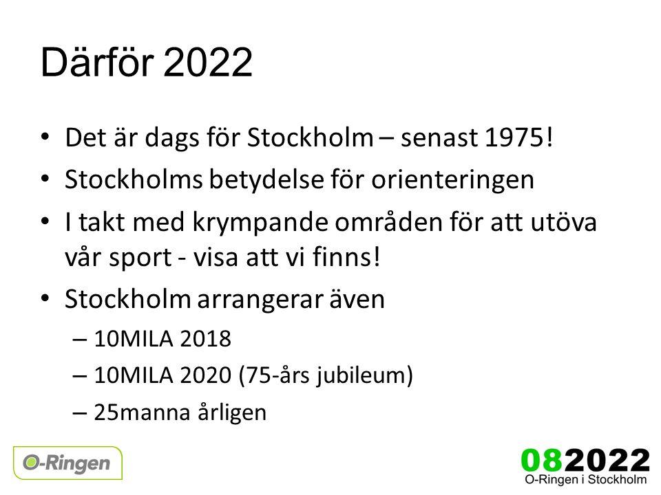 Därför 2022 Det är dags för Stockholm – senast 1975.