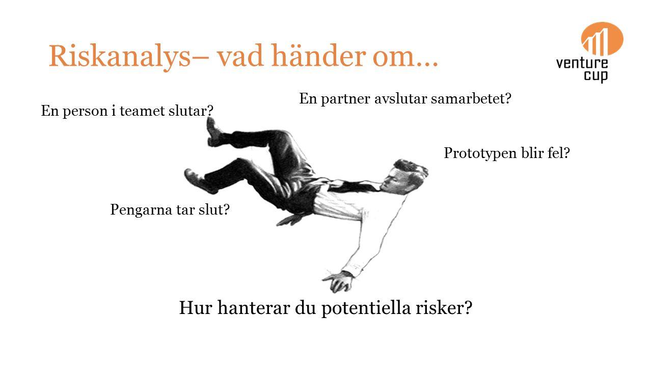 Riskanalys– vad händer om… Hur hanterar du potentiella risker.
