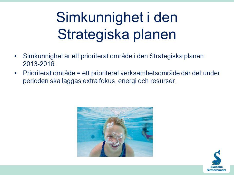 Simkunnighet i den Strategiska planen Simkunnighet är ett prioriterat område i den Strategiska planen 2013-2016.