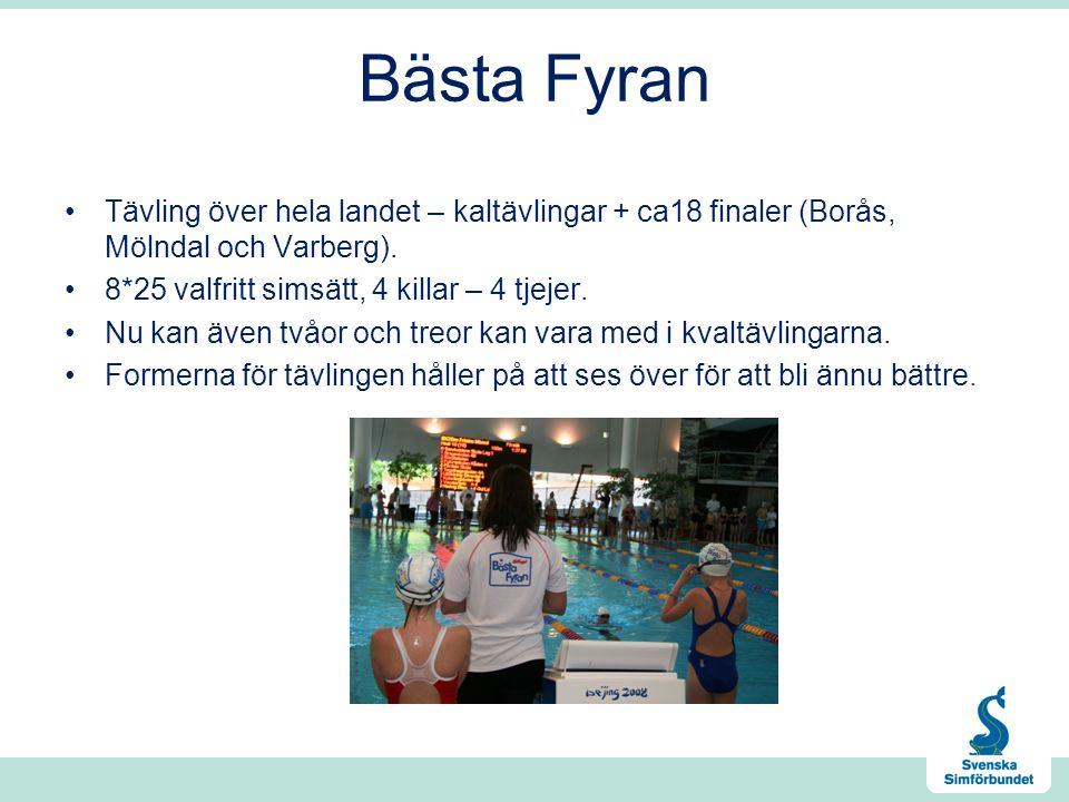 Bästa Fyran Tävling över hela landet – kaltävlingar + ca18 finaler (Borås, Mölndal och Varberg).
