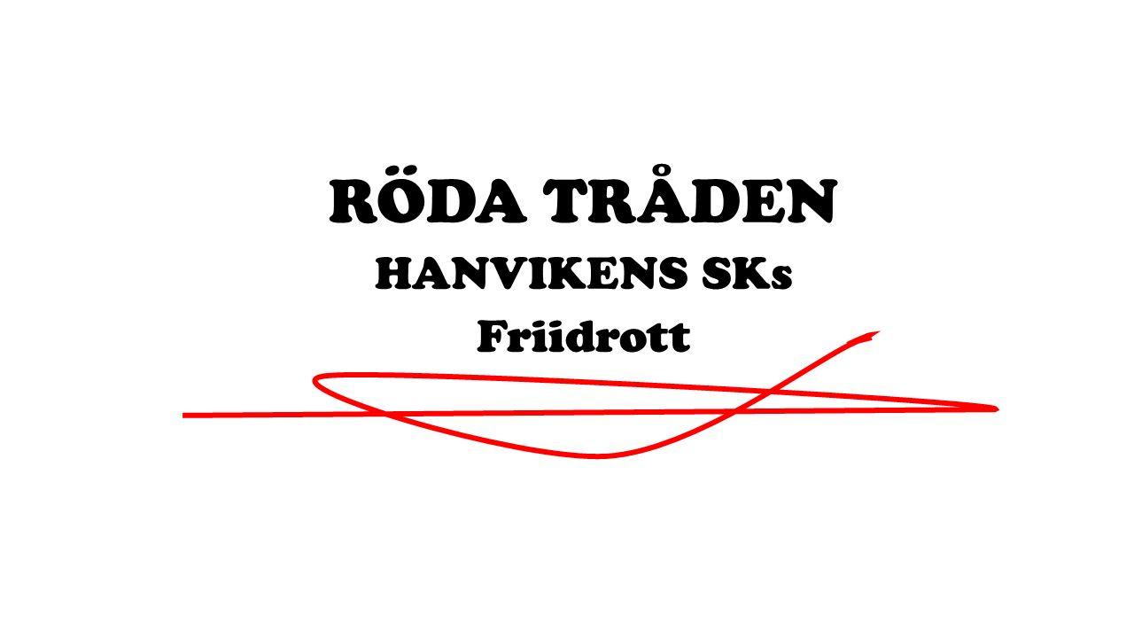 RÖDA TRÅDEN HANVIKENS SKs Friidrott