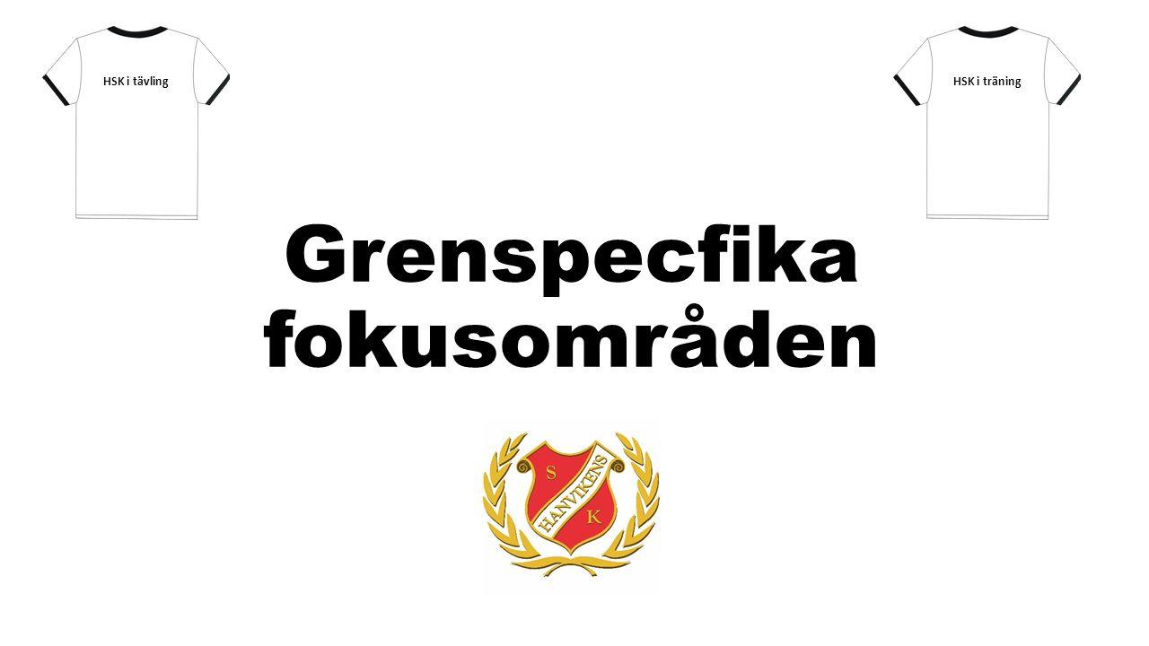 Grenspecfika fokusområden HSK i träningHSK i tävling