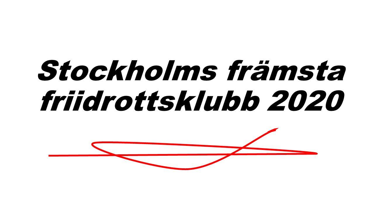Stockholms främsta friidrottsklubb 2020