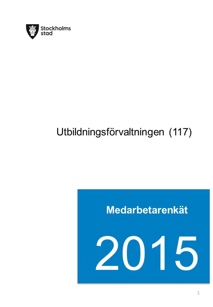 Medarbetarenkät 2015 1 Utbildningsförvaltningen (117)