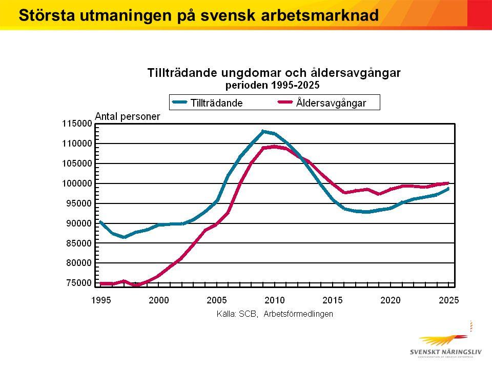 Största utmaningen på svensk arbetsmarknad