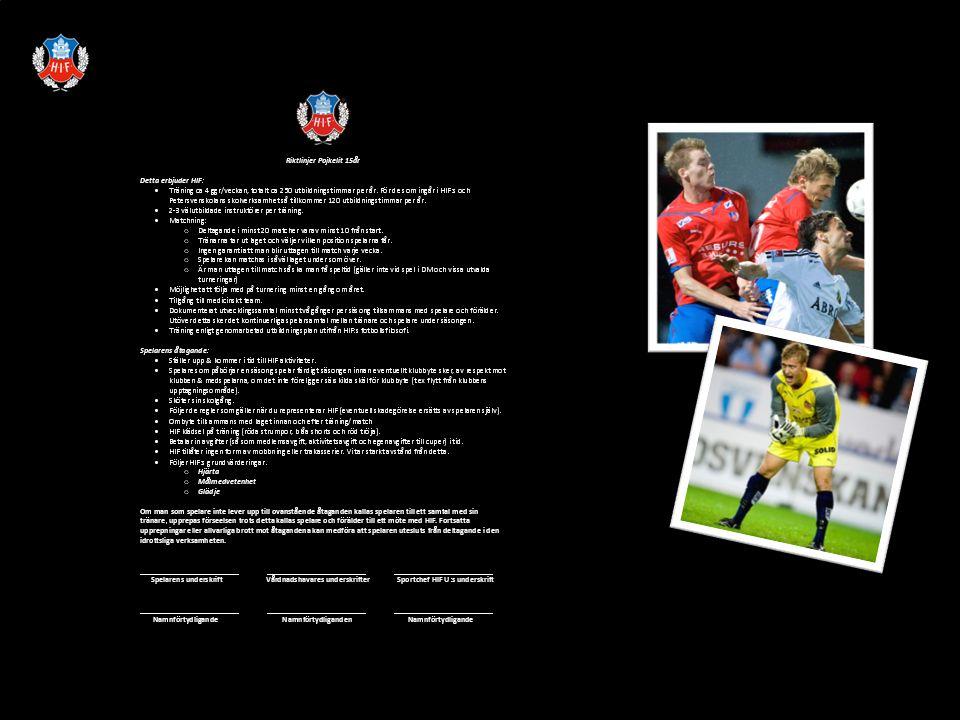 Allmän HIF info Ekonomi Förberedelser för en fotbollsspelare Sjukgymnast