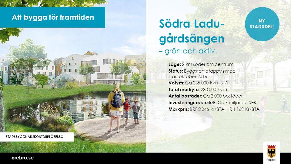 orebro.se Att bygga för framtiden STADSBYGGNADSKONTORET ÖREBRO NY STADSDEL.