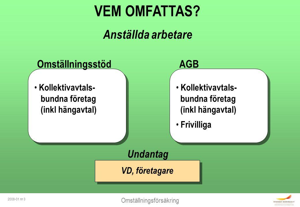 Omställningsförsäkring 2008-01 nr 3 VEM OMFATTAS.