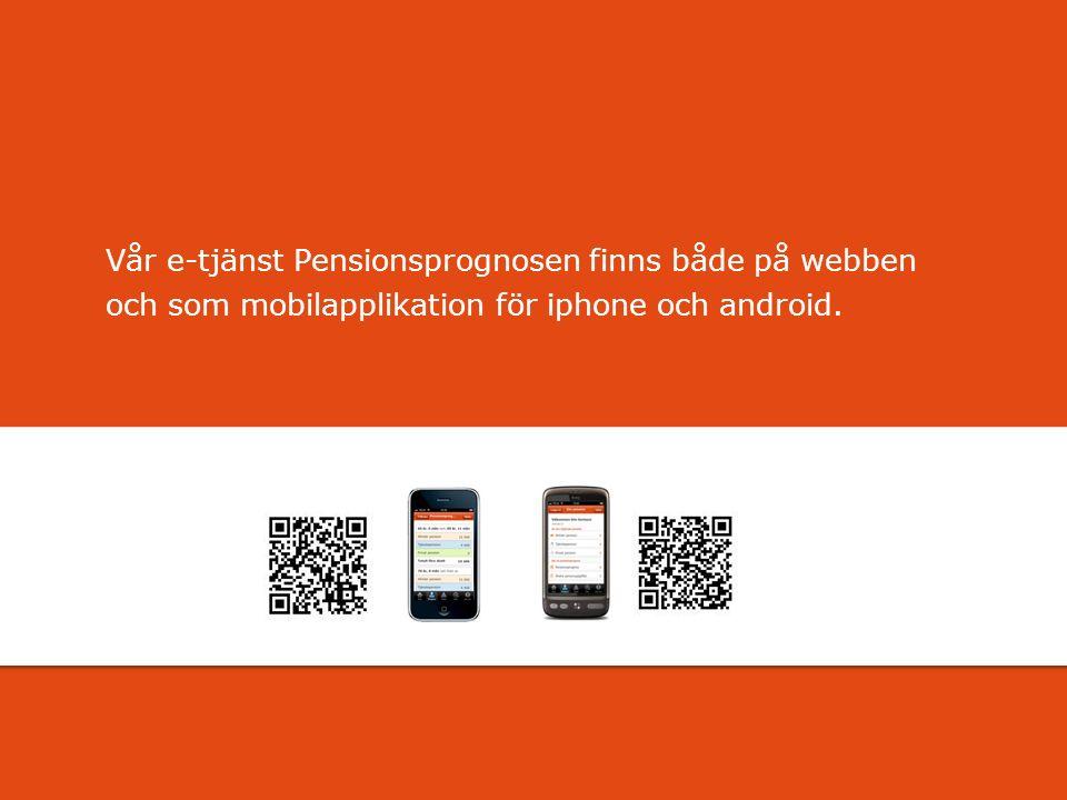 För att uppdatera sidfotstexten, gå till menyn: Visa/Sidhuvud och sidfot... Vår e-tjänst Pensionsprognosen finns både på webben och som mobilapplikati