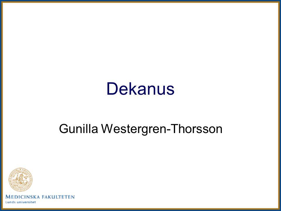 Dekanus Gunilla Westergren-Thorsson