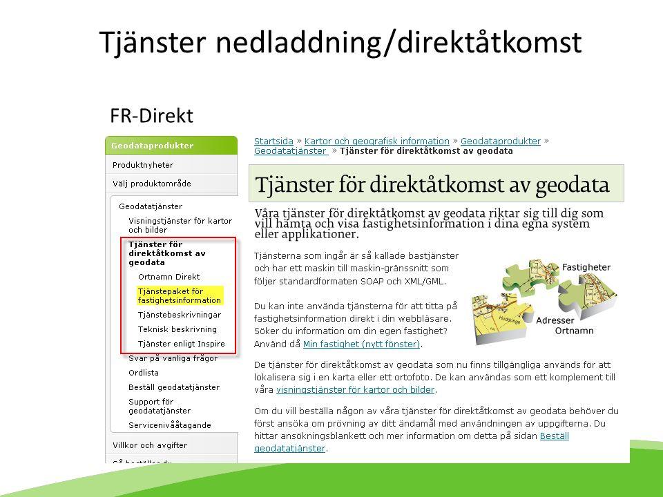 FR-Direkt Tjänster nedladdning/direktåtkomst