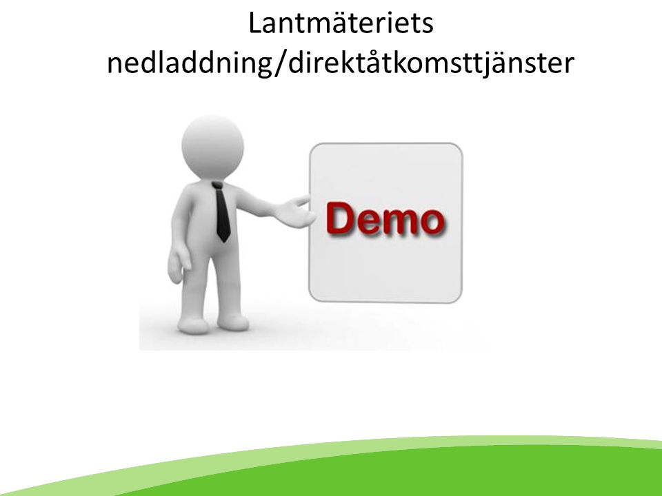 Lantmäteriets nedladdning/direktåtkomsttjänster