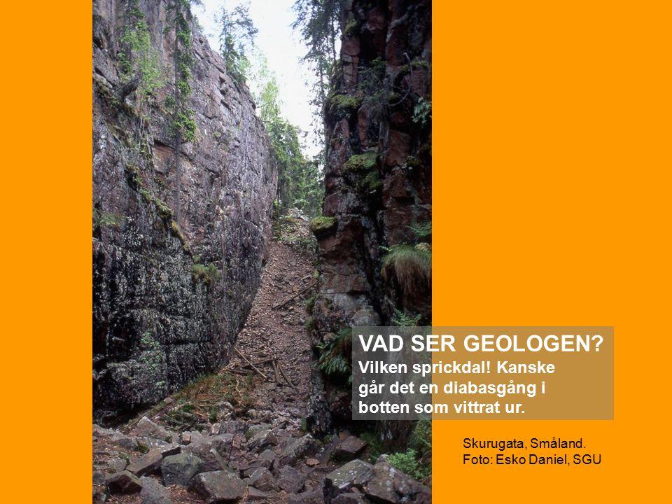 Skurugata, Småland. Foto: Esko Daniel, SGU VAD SER GEOLOGEN.