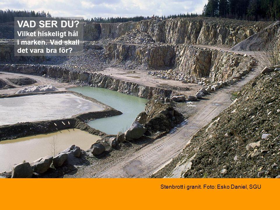 Stenbrott i granit. Foto: Esko Daniel, SGU VAD SER DU.
