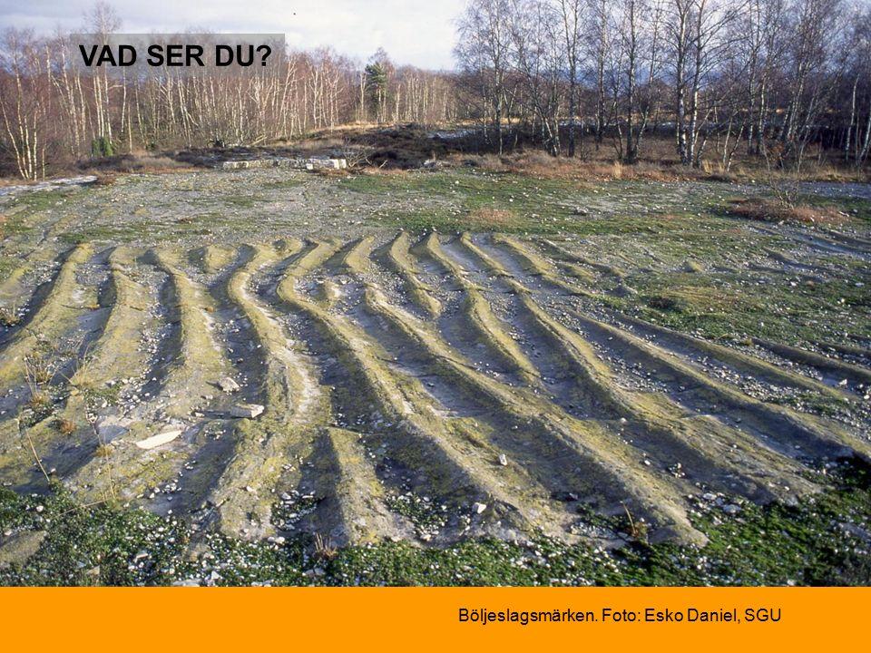 Böljeslagsmärken. Foto: Esko Daniel, SGU VAD SER DU