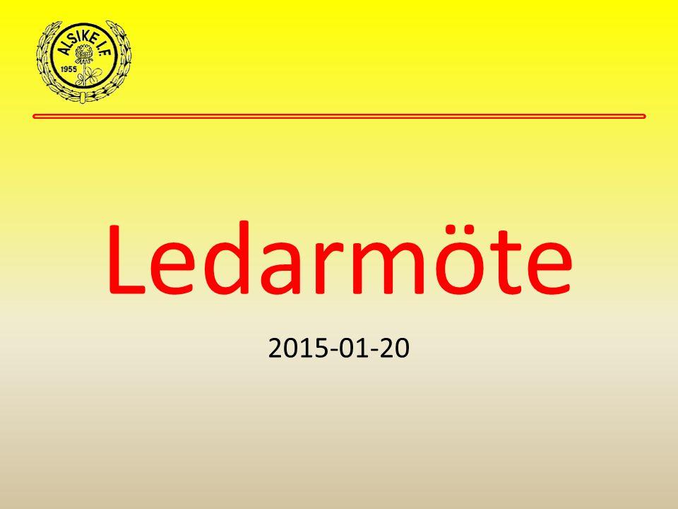 Ledarmöte 2015-01-20