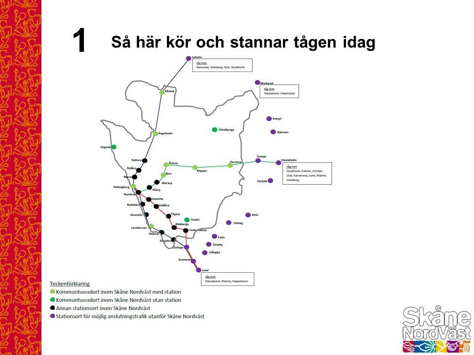 1 Bilden visar Skåne Nordväst – utan kommungränser.