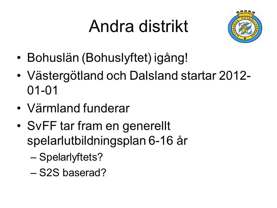 Andra distrikt Bohuslän (Bohuslyftet) igång.