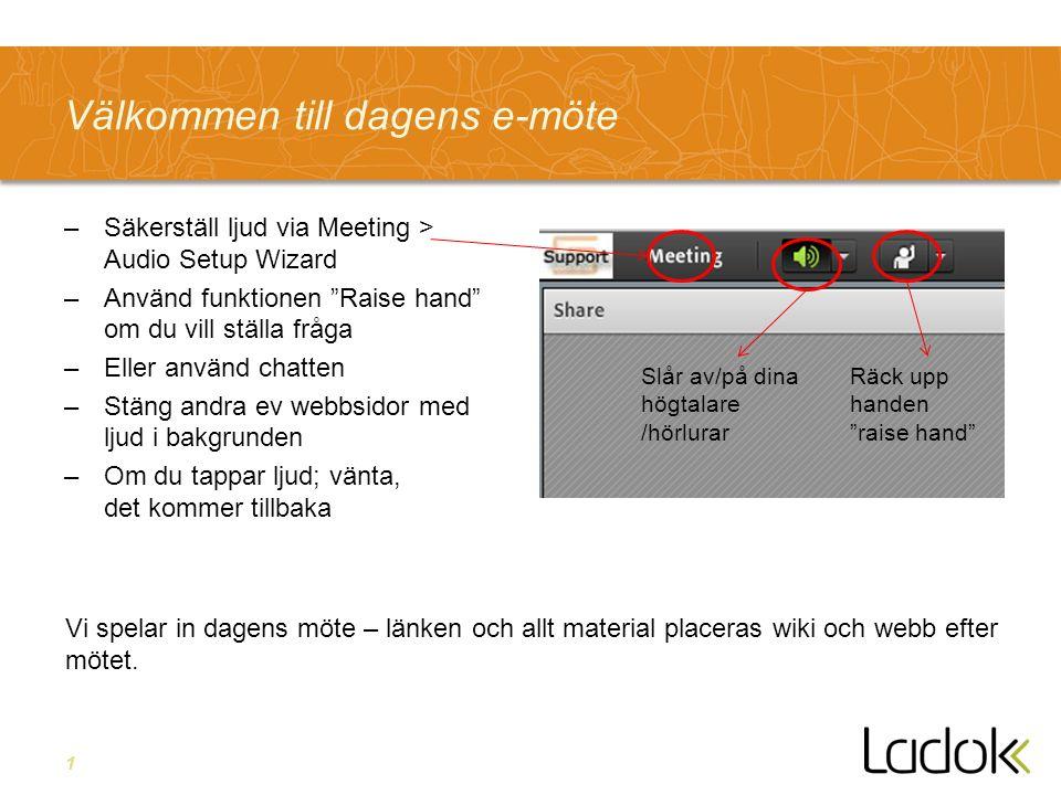 12 Arbetet med användbarhet i Ladok Anders Stenebo
