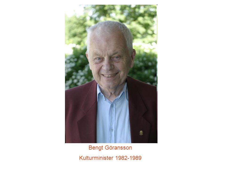 Bengt Göransson Kulturminister 1982-1989