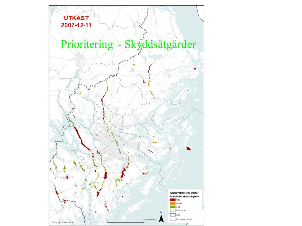 Resultat – Vattenskyddsåtgärder Nytt vattenskyddsområde 1.