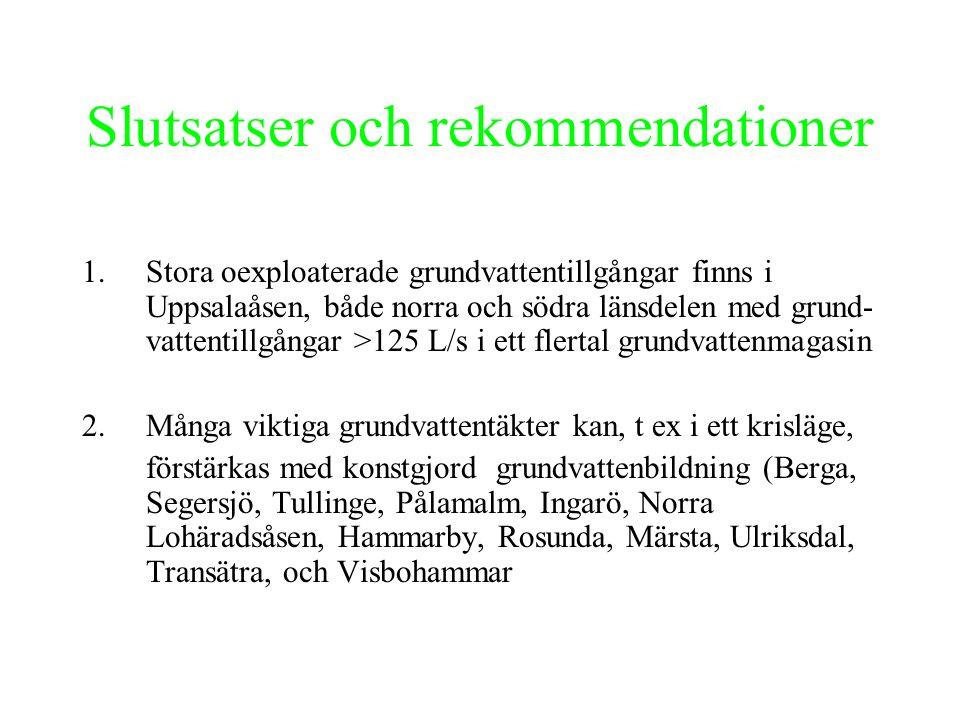 Slutsatser och rekommendationer 3.