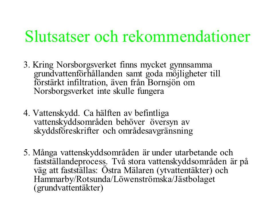Slutsatser och rekommendationer 6.