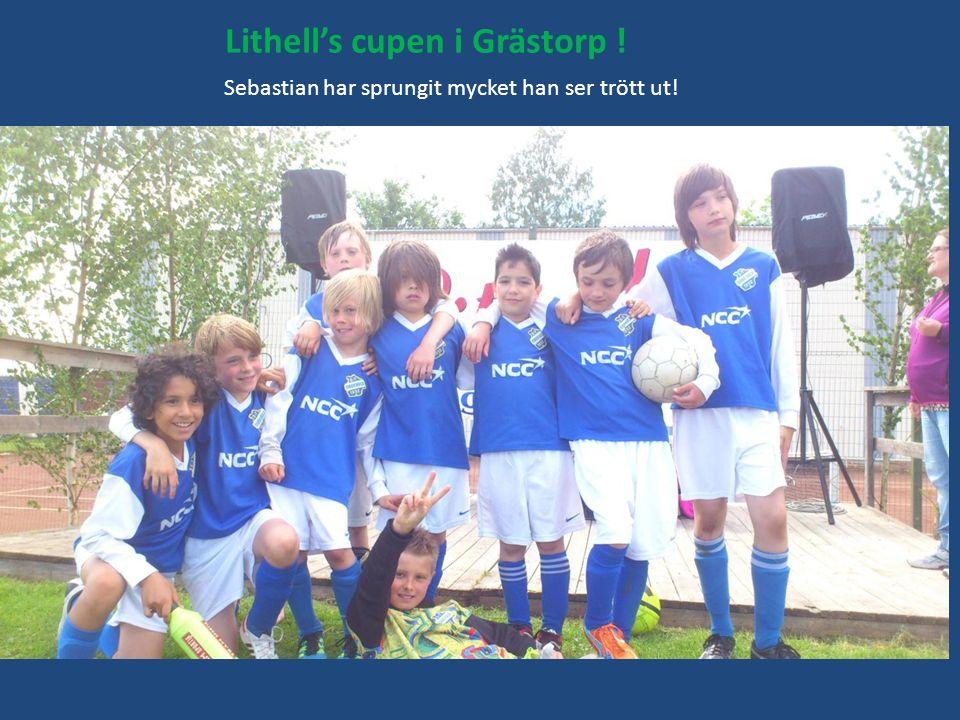 Lithell's cupen i Grästorp ! Sebastian har sprungit mycket han ser trött ut!