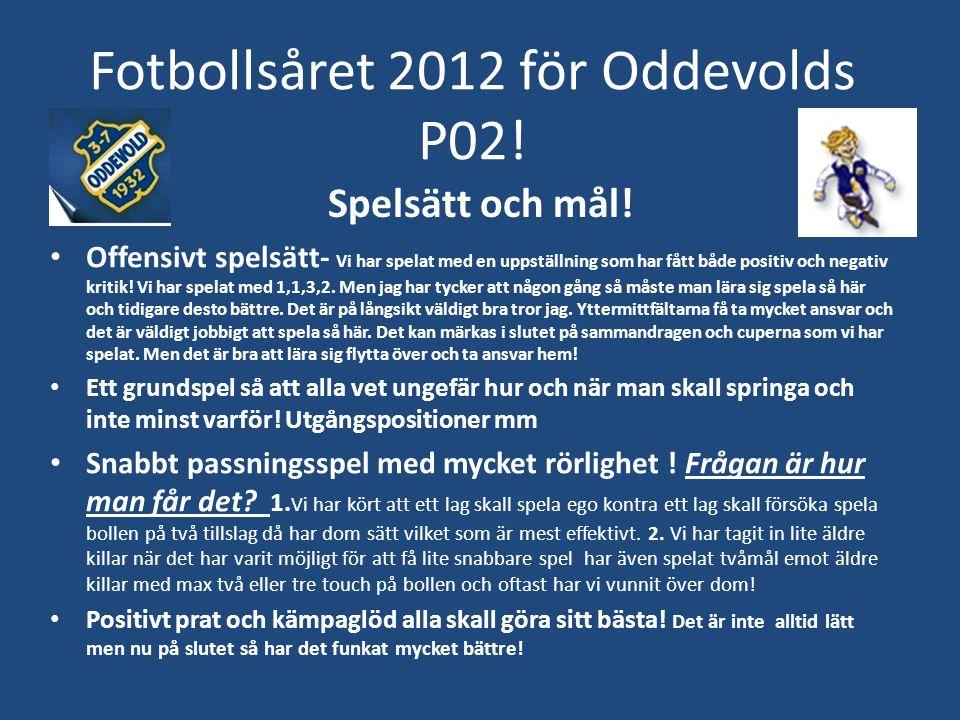 Fotbollsåret 2012 för Oddevolds P02.