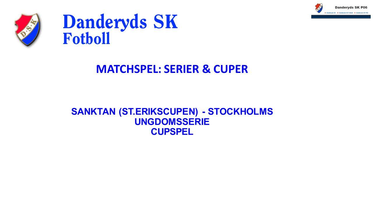 SANKTAN (ST.ERIKSCUPEN) - STOCKHOLMS UNGDOMSSERIE CUPSPEL MATCHSPEL: SERIER & CUPER