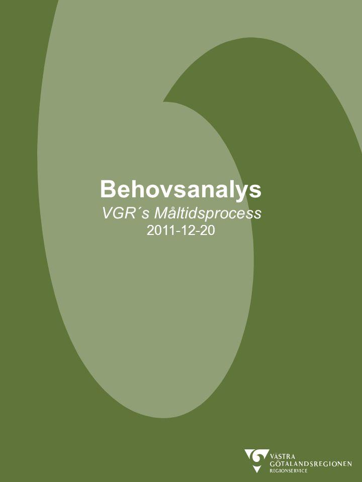 Behovsanalys VGR´s Måltidsprocess 2011-12-20