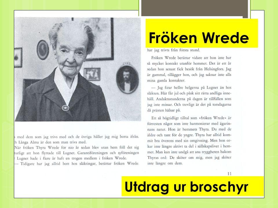 Alma Lindroth Utdrag ur broschyr