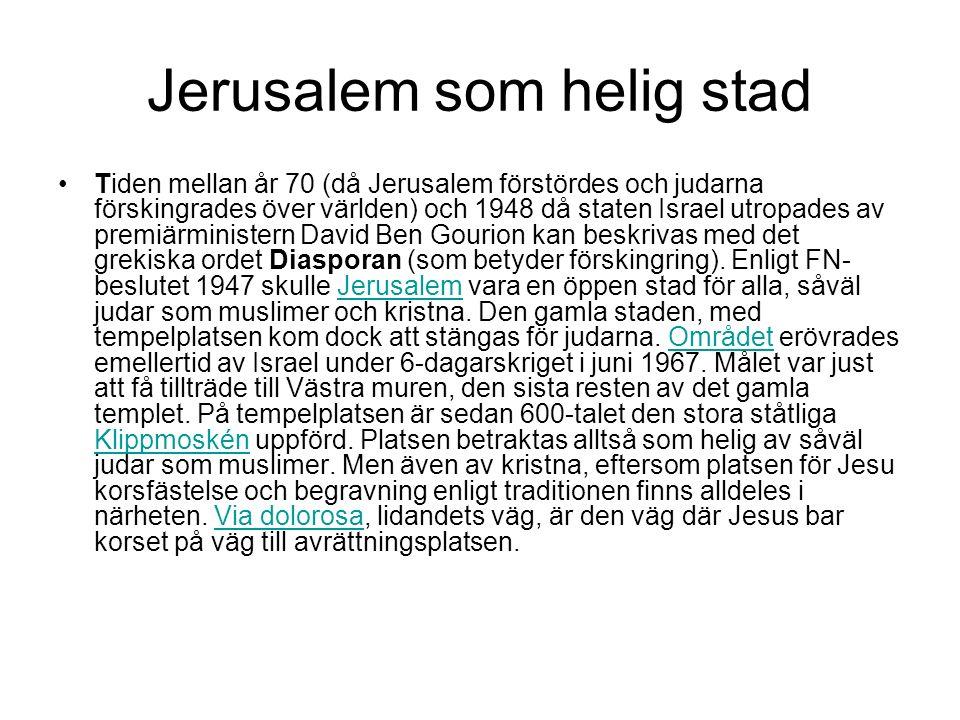 Tempelberget, Jerusalem Mitt på det s.k.