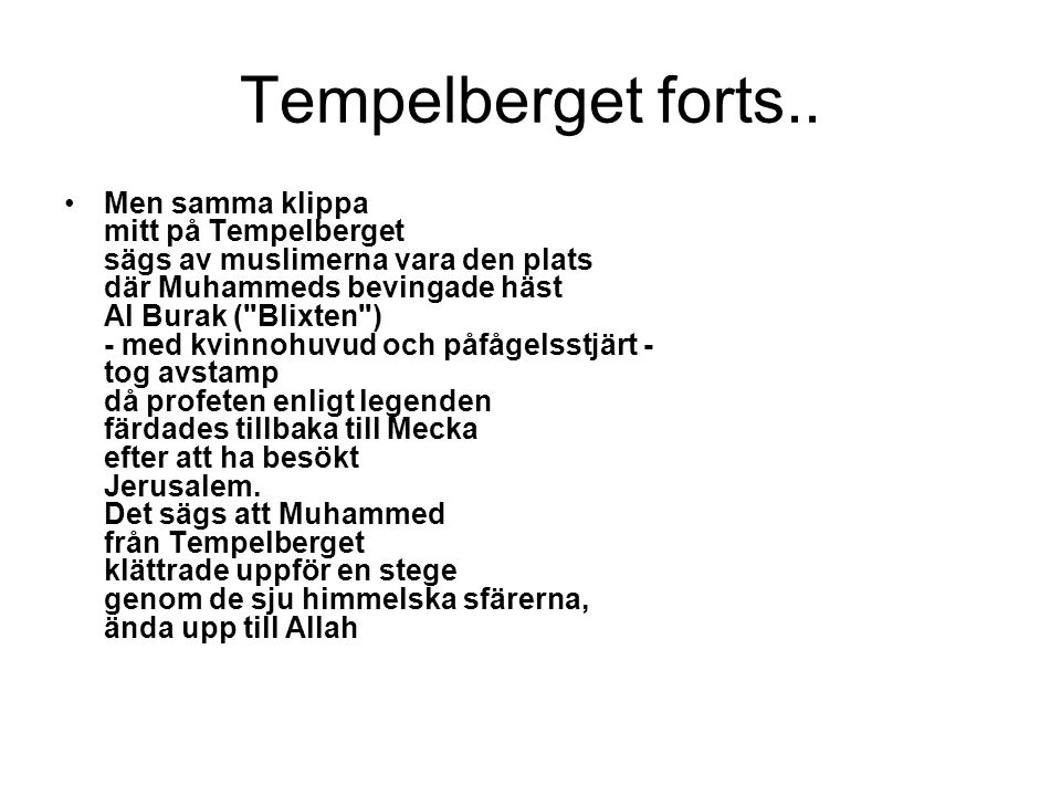 Tempelberget forts..