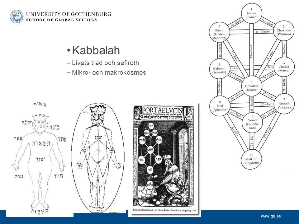 www.gu.se Kabbalah –Livets träd och sefiroth –Mikro- och makrokosmos