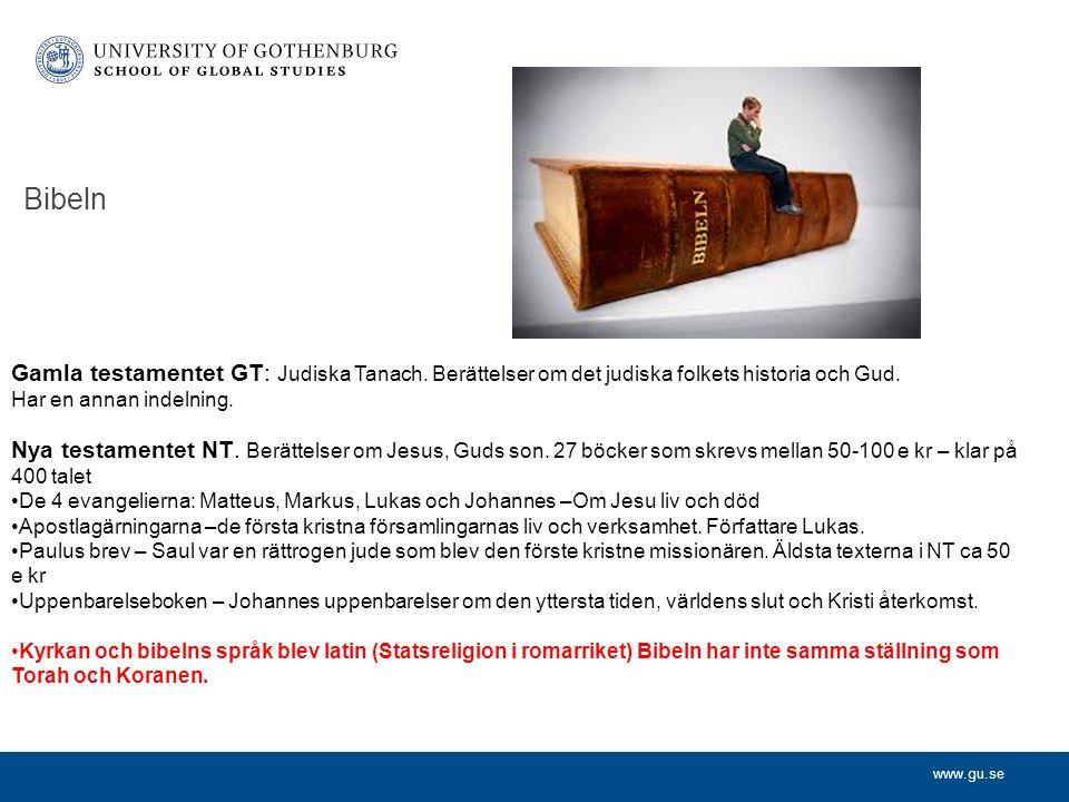 www.gu.se Bibeln Nya testamentet NT. Berättelser om Jesus, Guds son.