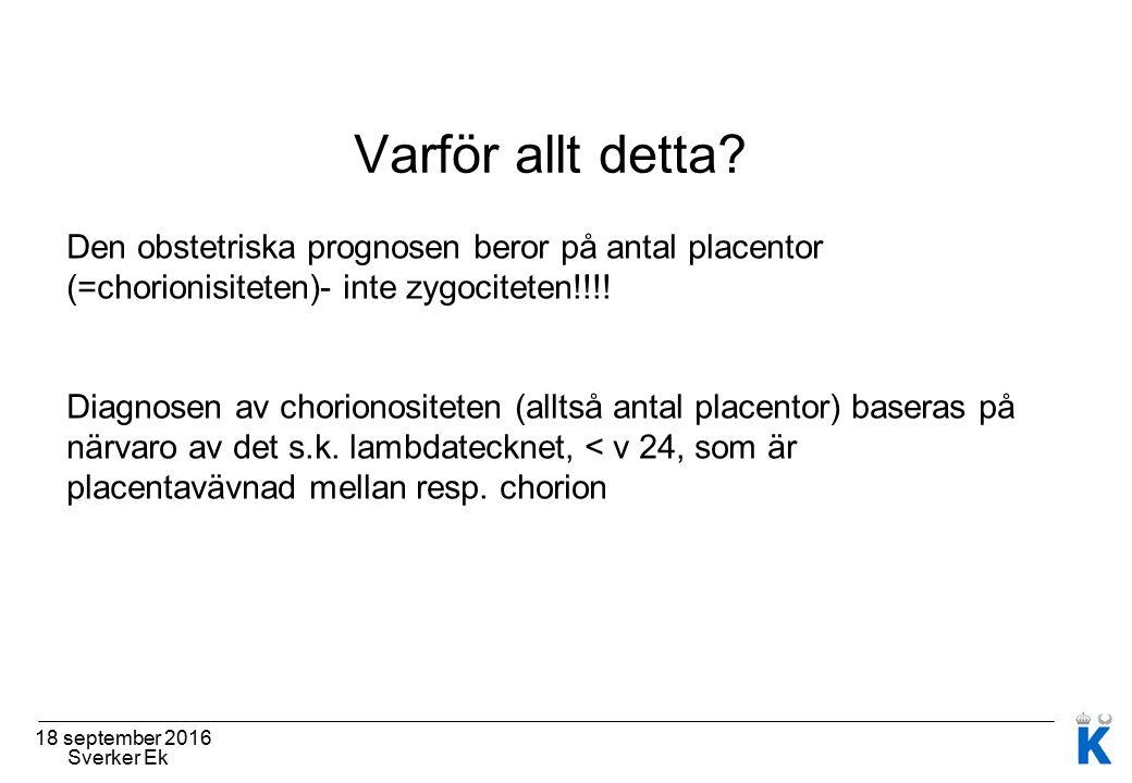 18 september 2016 Sverker Ek Varför allt detta.