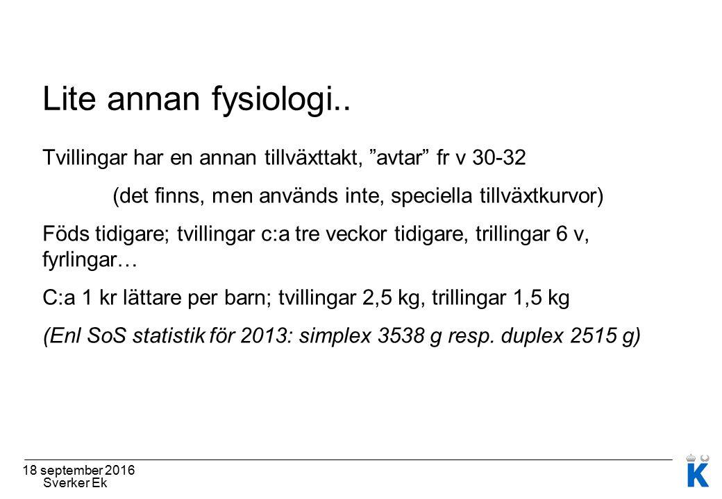 Lite annan fysiologi..