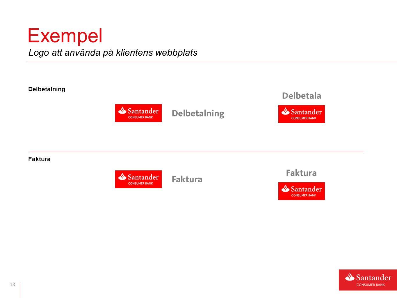 Delbetalning Faktura Exempel 13 Logo att använda på klientens webbplats