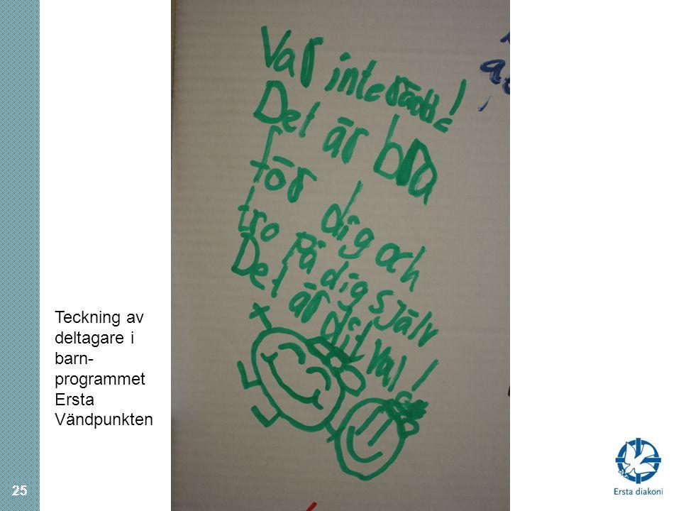 25 Teckning av deltagare i barn- programmet Ersta Vändpunkten