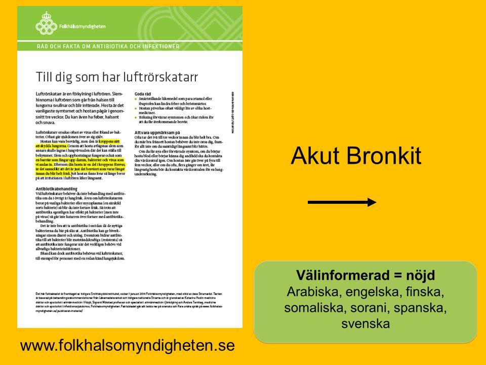 www.folkhalsomyndigheten.se Akut Bronkit