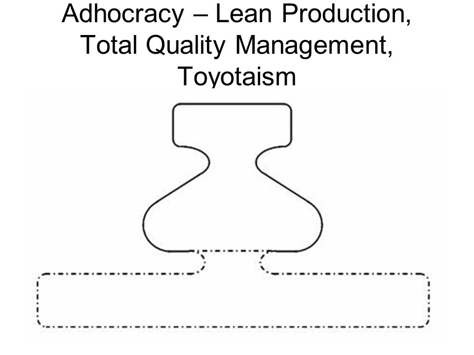 Adhocracy – Lean Production, Total Quality Management, Toyotaism