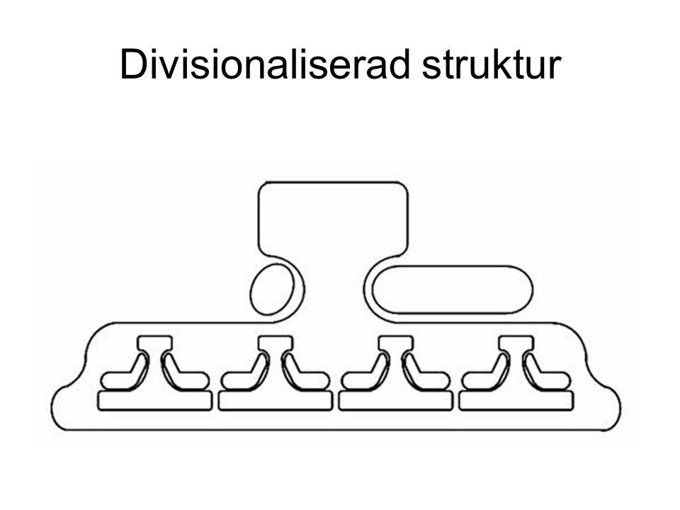 Divisionaliserad struktur