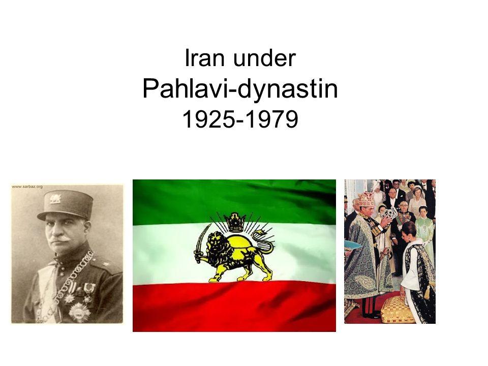 Iran under Pahlavi-dynastin 1925-1979