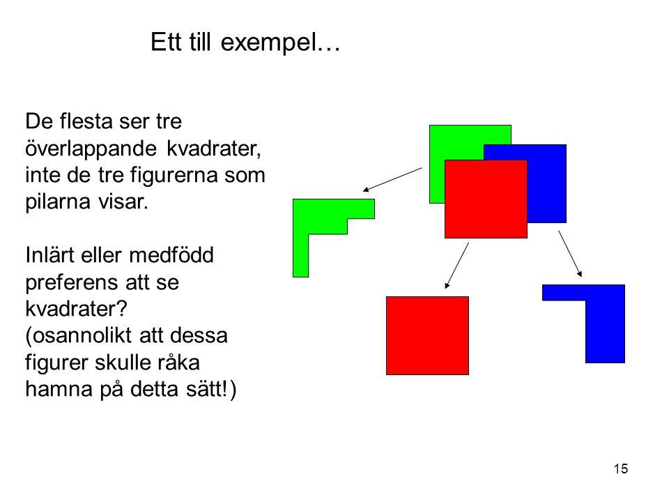 15 De flesta ser tre överlappande kvadrater, inte de tre figurerna som pilarna visar.