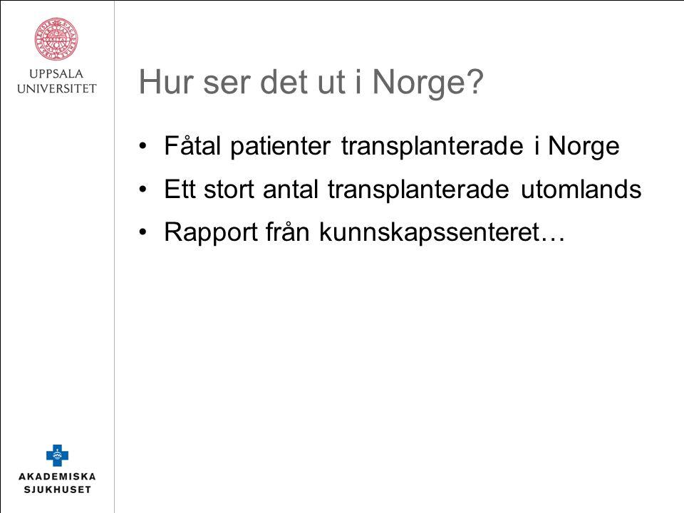 Hur ser det ut i Norge.