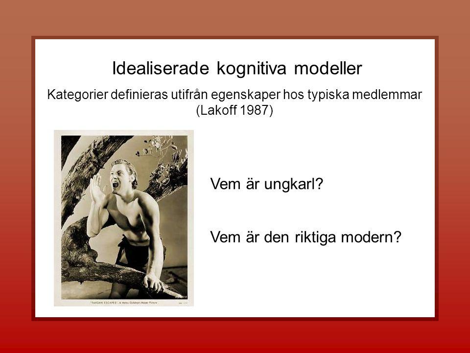 Vem är den riktiga modern. Idealiserade kognitiva modeller Vem är ungkarl.