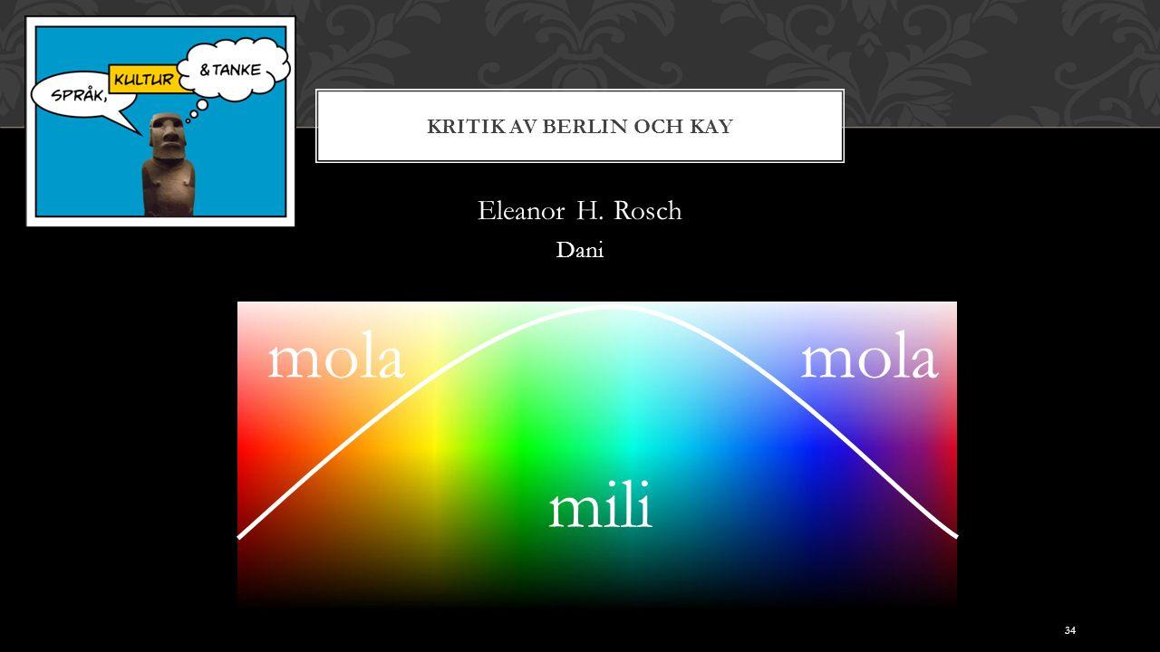 KRITIK AV BERLIN OCH KAY Eleanor H. Rosch Dani mili mola 34
