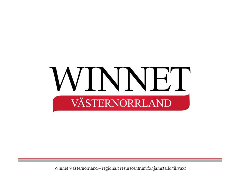 Winnet Västernorrland – regionalt resurscentrum för jämställd tillväxt