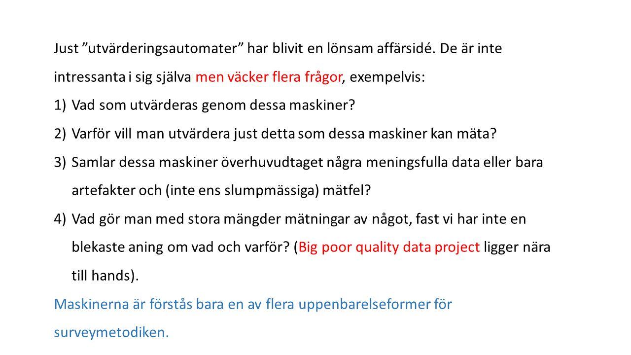Sverigedemokraterna och den krympande svarsfrekvensen Vad håller vi på med.
